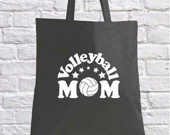 Volleyball Mom Tote Bag. Volleyball Tote Bag Handbag. Sports Tote for Mom. Canvas  Handbag Tote Bag. Team Mom Gift. Gift for Volleyball Mom bd5ce213ed23d