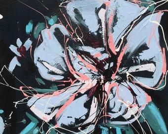 Hibiscus In Light || Flower Painting || Original Art by Aidan Weichard || 60cm x 40cm