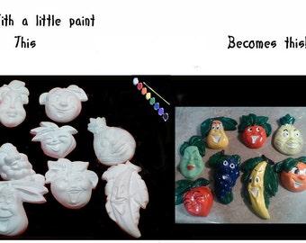 Anthropomorphic Funny Fruit Girl Pear|DIY Plaster|Ready To Paint|U Paint|DIY|Plaster|PlasterCraft|ChalkWare|Wall D\u00e9cor|Wall Hangings