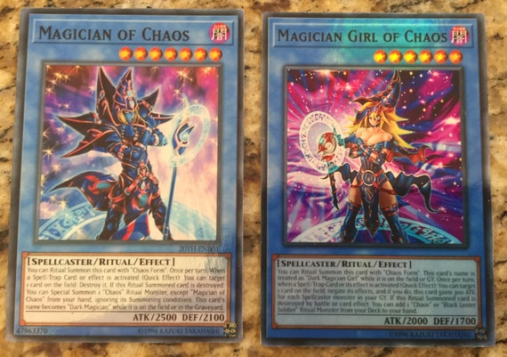 Yugioh OCG ONLY Card Lot of 2 = Magician of Chaos & Girl VRAINS Cosplay  Link Deck