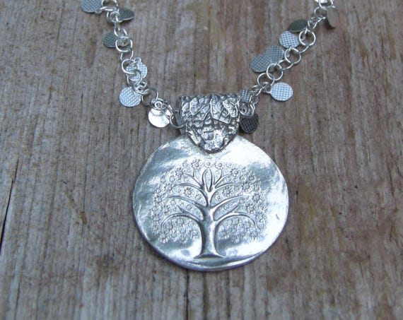 Tree of Life Necklace, Sterling Silver Tree Necklace, Botanica Necklace, Tree Jewelry