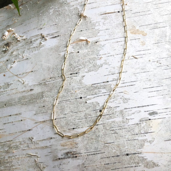 Gold Filled Paperclip Layering Chain 8mm x 3mm