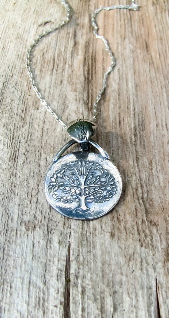 Fine Silver Tree of Life Necklace, Handmade Nature Necklace, Tree of Life Jewelry, Artisan Necklace