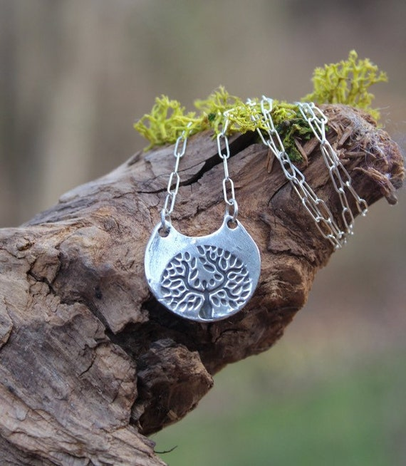 Sterling Silver Tree of Life Necklace, Silver Mother Nature Necklace, Silver Mother Earth Necklace