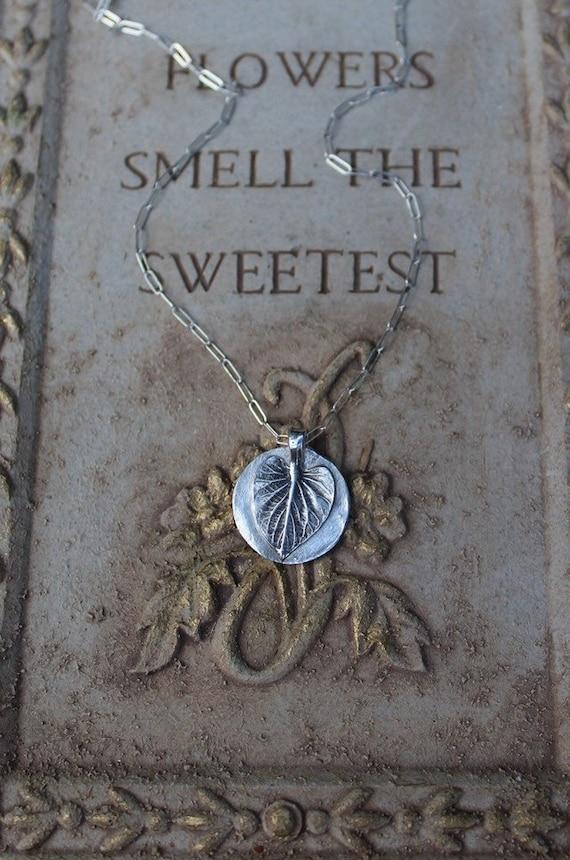 Silver Leaf Necklace, Angel Leaf Necklace, Angel Necklace, Angelica Leaf Necklace, Artisan Necklace, Woodland Necklace