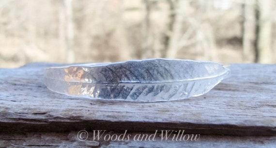 Sterling Silver Cuff Bracelet, Leaf Cuff Bracelet, Willow Bracelet, Handcrafted Cuff Bracelet