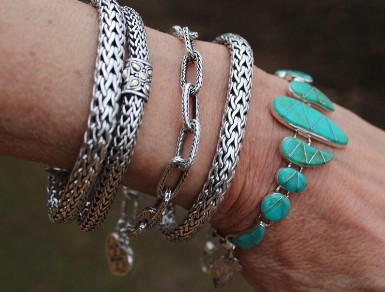 Handmade Turquoise Bracelet with Leaf Charm Turquoise Bracelet Multi Stone Bracelet