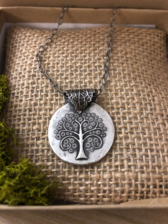 Fine Silver Tree of Life Necklace, Tree of Life Necklace, Artisan Made Nature Necklace