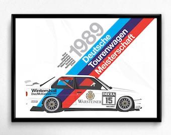 Vintage German BMW Lives With Motorsport Poster