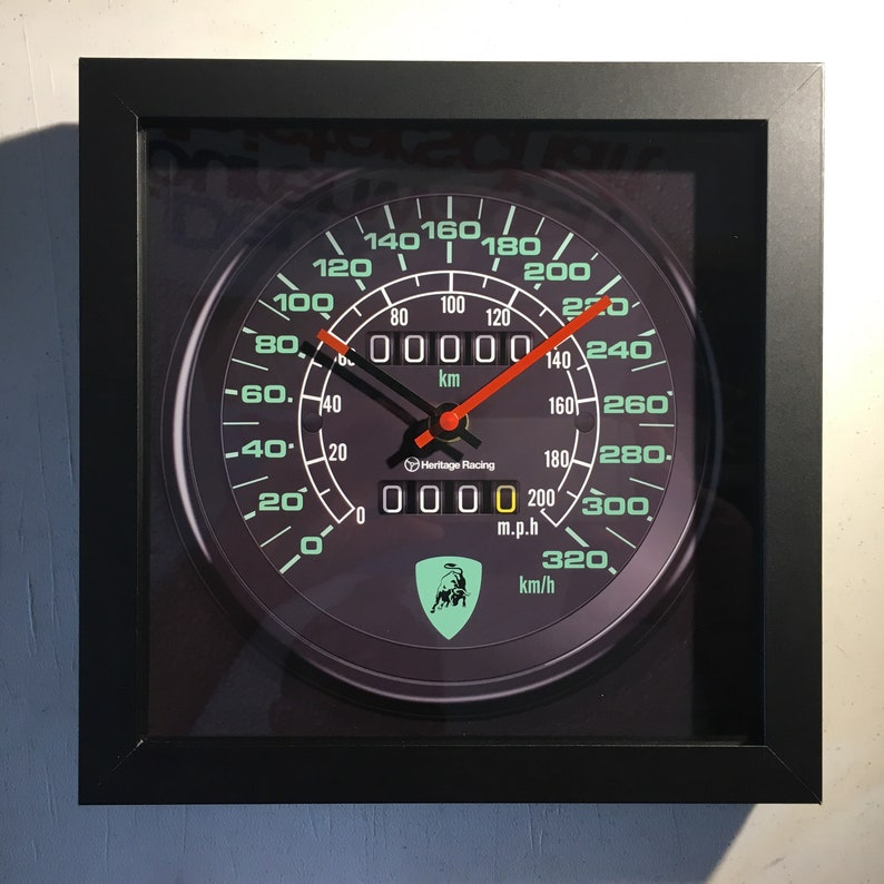 Lamborghini Countach Speedometer Wall Shelf Clock Etsy