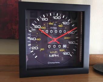 Personalized Audi Quattro Speedometer Wall/Shelf Clock
