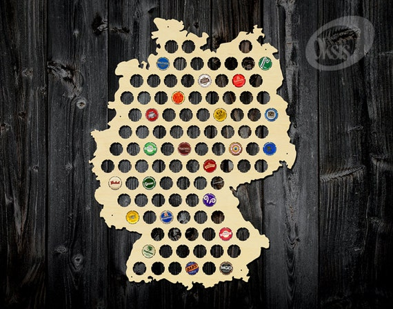 Beer Cap Map Beer Cap Map Of Germany Beer Cap Holder Gift Etsy - Germany beer cap map