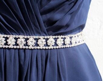 Thin Bridesmaid Belt Flower Girl Sash Bridesmaids Sash Rhinestone Belt thin bridal sash Bridal Belt