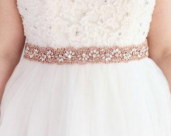 Wedding Belt Bridal Sash Belt Sash Belt Bridesmaid Belt Crystal Rose Gold Belt Wedding Dress Belt Gold Belt For Dress