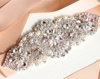 Wedding Dress Belt Pearl Crystal Rhinestone Bridal Belt Bridesmaids Belt Bridal Accessories Wedding Belt Sash