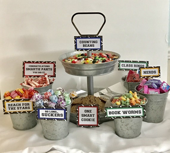 Graduation Candy Signs Set Of 9 Candy Bar Sign Candy Sign Etsy