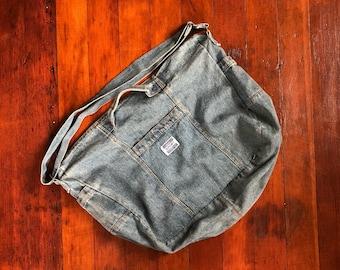 99a8b2f7237 Vintage normcore 90s denim duffle bag