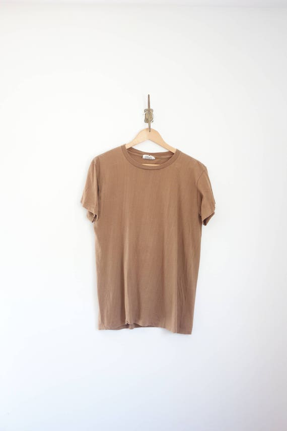 vintage perfect faded brown tee