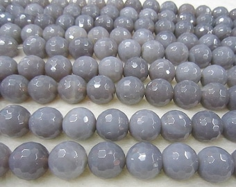 """Faceted Gray Agate Beads Grey Agate Loose Bead DIY Suppliers 15"""" Full Strand 6mm 8mm 10mm 12mm Optional T039"""