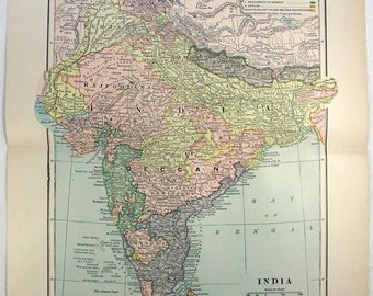 Bengal Nepal Bhutan Calcutta Bangladesh British India Ne Johnston 1906 Map