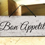 Kitchen Wall Sign. Bon Appetit Sign. Rustic Kitchen Decor. Restaurant Sign. Kitchen Wood Signs. Bon Appetit. Coffee Wall Signs . 12X5