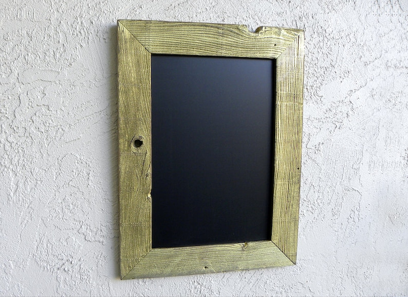 Rustic Gold Chalkboard Wooden Framed Wall Chalkboard Kitchen image 0