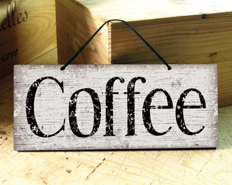 Coffee Sign. Kitchen Sign. Rustic Coffee Signs. Coffee Shop Wall Decor. Rustic Kitchen Signs. Restaurant Decor Rustic. Ready to Ship. 12x5
