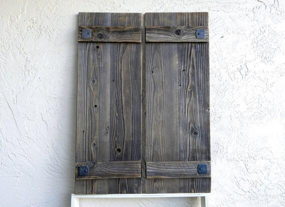 Rustic Shutters. Set Of 2. Barn Door Shutters. Exterior | Etsy