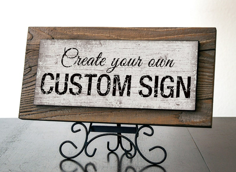 Custom Sign with Reclaimed Wood. Rustic Custom Signs. Kitchen image 0