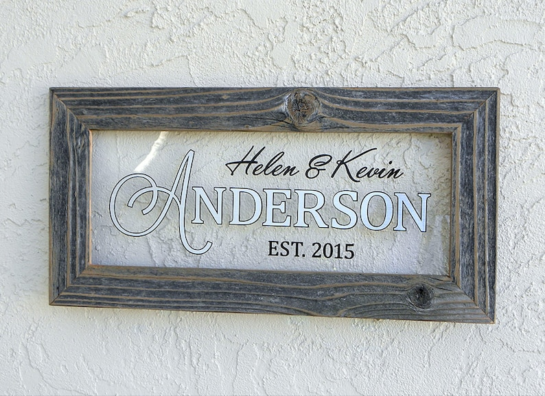 Personalized Family Name Sign. Custom Family Name Sign. image 0