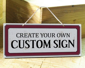 Custom Sign. Custom Wood Sign. Door Sign. Rustic Custom Signs. Wall Custom Sign. Office Signs. Business Sign. Personalized Gifts. 12x5 *