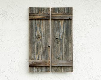 Rustic Shutters. Set of 2.  Rustic Barn Doors. Rustic Wall Decor. Farmhouse Shutters. Rustic Window Shutters. Farmhouse Decor. SM