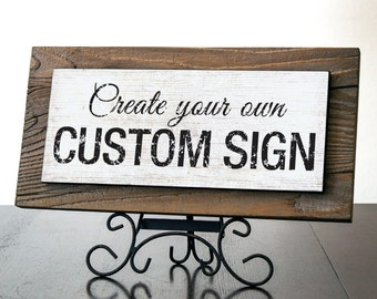 Custom Sign. Rustic Reclaimed Wood Signs. Custom Quote Sign. Rustic Business Sign. Office Sign. Personalized Sign. HOLIDAY GIFT. 15x6*