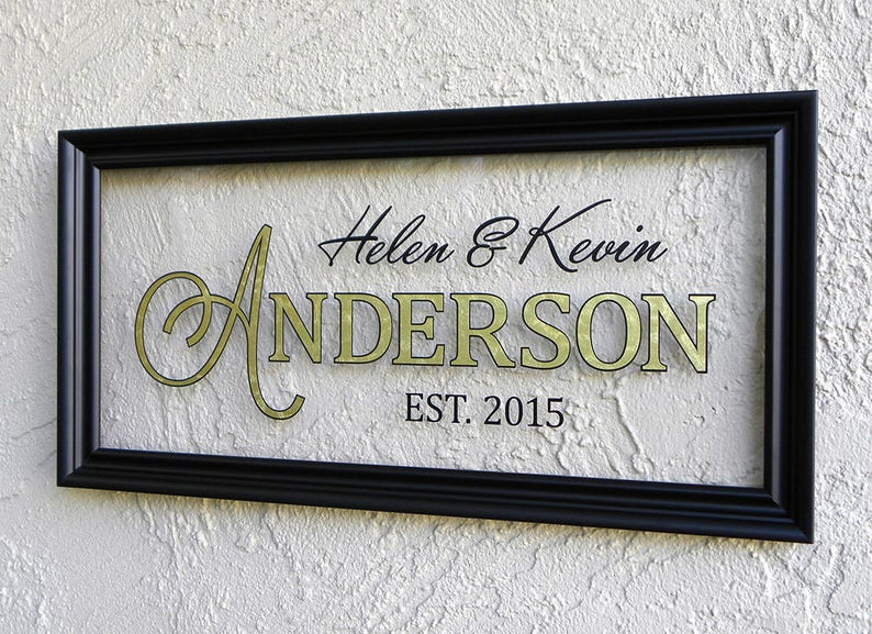 Personalized Family Name Plaque Custom Family Name Sign Customizable Name Sign