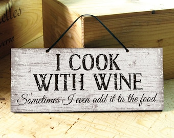 Kitchen Wall Sign. Wine Decor Sign. Funny Wine Sign. Funny Signs. Rustic Kitchen Signs. Restaurant Decor. Ready to Ship. Birthday Gift. 12x5