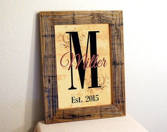 Custom Family Name Sign. Reclaimed Wood. Rustic Sign. Established Family Sign. Personalized Sign. Custom Quote Sign. 12x16