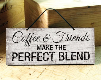 Coffee Wall Sign. Wall Sign Coffee & Friends. Wooden Kitchen Signs. Kitchen Decor. Kitchen Signs. Wall Decor Rustic. Ready to Ship. 12X5