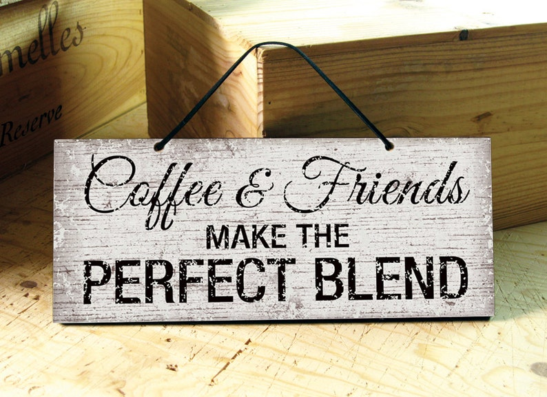 Coffee Wall Sign. Wall Sign Coffee & Friends. Wooden Kitchen image 0