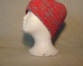 Crocheted Ear Warmers-Crocheted Mens Ear Warmers-Crocheted Mens Headband-Crocheted Red & Gray Ear Warmers-Crocheted Red + Gray Headband-Head