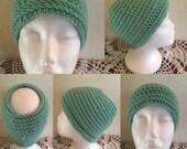 Messy Bun Beanies/Hat - Green Messy Bun Hat -Reversible Crocheted Messy Bun Hats-Messy Bun Hats-Reversible-Hats-St. Patrick's Day Hat