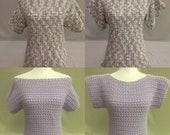 Summer Tee-Off the Shoulder Top-Crochet Off the Shoulder Top-Crochet Top-Summer Tee-Gift Idea for Women-Women Summer Top-Crochet Summer Tee