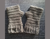 Crochet Pattern, HerringBone Fingerless Gloves, Unisex Crochet Pattern for HerringBone Fingerless Gloves, Pattern for Fingerless Gloves