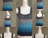 Crochet Pattern-Tank Top-Ombre Waves Tank Top Pattern-Tank Top Pattern-Crochet Pattern-Ombre Waves Crochet Tank Top Pattern-Crochet Tank Top