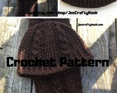Crochet Pattern-Crochet Pattern for Hat & Scarf-Beanie and Scarf Crochet Pattern-Jim's Twisted Knot Set Crochet Pattern-Hat Crochet Pattern