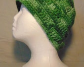 Green Camo Beanie-Handcrafted Beanie-Crocheted Camo Beanie fits Teen to Adult Large Handmade Camo Beanie-Crocheted Hat-St. Patrick's Day Hat
