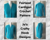 Crochet Pattern-Fairland Cardigan Crochet Pattern-Crochet Pattern for Cardigan-Cardigan Crochet Pattern-Fairland Cardigan Pattern