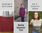 Crochet Pattern-Nellie Summer Tee Crochet Pattern-Crochet Pattern for a Tee-Pattern for the Nellie Summer Tee-Nellie Summer Tee Pattern