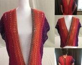 Ombre Cardigan-Mandala Cardigan-Mandala Sweater-Sweater for Women/Juniors-Crochet Cardigan-Crochet Sweater-Gift Idea-Iced Chai Tee Cardigan