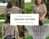 Crochet Pattern-Wrapped in Diamonds Crochet Pattern-Crochet Pattern for Wrap-Shawl Crochet Pattern-Wrap Crochet Pattern-Wrapped in Diamonds