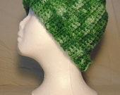 Crochet Messy Bun Hat-Crochet Camo Messy Bun Hat-Crocheted Reversible Messy Bun Hat -Reversible Messy Bun Hat -St. Patrick's Day Hat